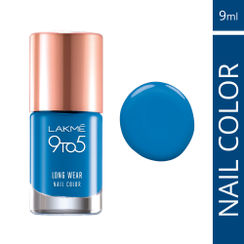 Lakme 9 to 5 Long Wear Nail Color - Indigo Ink