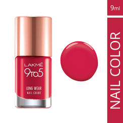 Lakme 9 to 5 Long Wear Nail Color - Red Risk