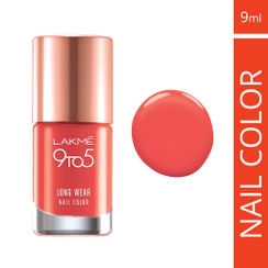 Lakme 9 to 5 Long Wear Nail Color - Orange Coat