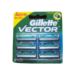 Gillette Vector Plus Cartridge 6 Pack Save Rs.20