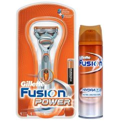 Gillette Fusion Power Razor + Free Hydra Gel 75 ml