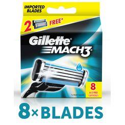 Gillette Mach 3 Shaving Razor Blades (Cartridge 6 + 2 Free)