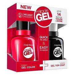 Sally Hansen Miracle Gel Dual Pack - 2xvolume Top Coat + Red Eye