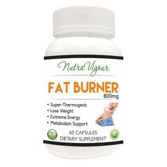 Nutravigour Garcinia Cambogia 70% (HCA) FAT BURNER With Green Tea Extract And Yohimbine Extract 5mg -60 Capsules 800 Mg