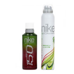 Nike 150 Spicy Love Gift Set For Women (EDT 150 ml + Deo 200 ml)(pack of 2)