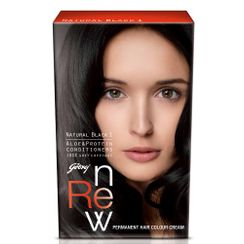 Godrej Renew Crme Hair Colour - Natural Black (20 ml)