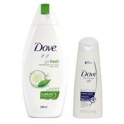 Dove Go Fresh Nourishment Body Wash 200ml + Free Intense Repair Shampoo 80ml