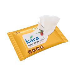Kara Sunscreen Wipes With Plum And Aloe Vera (25 Wipes)