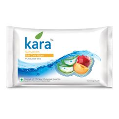 Kara Sunscreen Skin Care Wipes Plum & Aloe Vera 30P