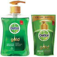 Dettol Gold Liquid Handwash Daily Clean + Free Dettol Gold Pouch