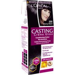 LOreal Paris Casting Creme Gloss Hair Color Small Pack - 200 Ebony Black