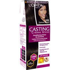 LOreal Paris Casting Creme Gloss Hair Color Small Pack - 300 Darkest Brown
