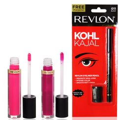 Revlon Super Lustrous Lip Gloss + Free Eyeliner Pencil