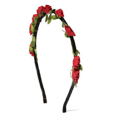 Toniq Ecstasy Red Floral Hair Band