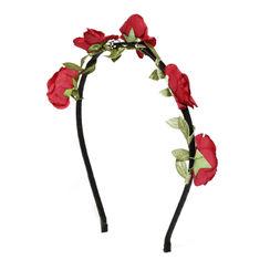 Toniq Bohemia Red Flower Hair Band