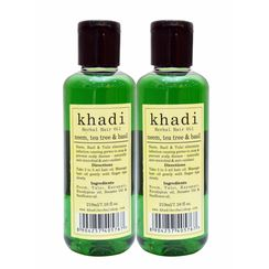 Khadi Neem,Tea Tree & Basil Hair Oil (Pack of 2)