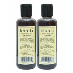 Khadi 18 Herbs Hair Oil (Pack of 2)