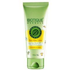 Biotique Bio Aloe Vera Baby Sun Block SPF 20 UVA/UVB Sunscreen