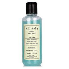 Khadi Herbal Aloe Vera Face Wash With Scrub