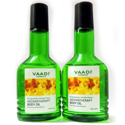 Vaadi Herbals Pack Of 2 Aromatherapy Body Oil With Pure Lemon Grass & Lily Oil