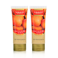 Vaadi Herbals Face & Body Scrub With Walnut & Apricot (Pack Of 2)