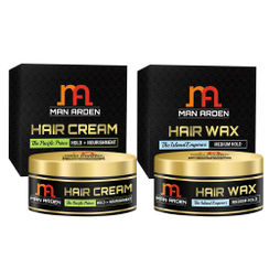 Man Arden Hair Cream - The Pacific Prince + Hair Wax (The Island Emperor Kit)