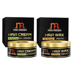 Man Arden Hair Cream - The Pacific Prince + Hair Wax (The Maverick Kit)