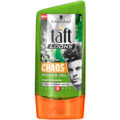 Schwarzkopf Taft All Weather Looks Chaos Power Gel Ultra Strong Hold