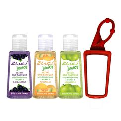 Zuci 30ml Black Current, Muskmelon And Green Apple Hand Sanitizer With Bag Tag