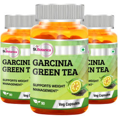 St.Botanica Garcinia Green Tea 500mg Extract - 90 Veg Caps (Pack of 3)