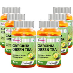 St.Botanica Garcinia Green Tea 500mg Extract - 90 Veg Caps (Pack of 6)