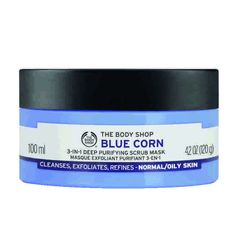 The Body Shop Blue Corn 3 in1 Deep Cleansing Scrub Mask