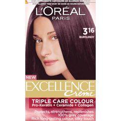 LOreal Paris Excellence Creme Hair Color - 3.16 Burgundy