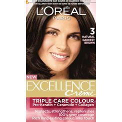 LOreal Paris Excellence Creme Hair Color - 3 Natural Darkest Brown