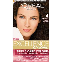LOreal Paris Excellence Creme Hair Color - 4 Natural Dark Brown