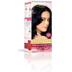 LOreal Paris Excellence Creme Hair Color - 1 Black