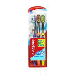 Colgate 360 Floss Tip Toothbrush Buy 2 Get 1 Free
