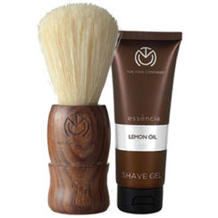 The Man Company Natural Brown Shaving Brush With A Free Lemon Oil Shave Gel (25ml) worth INR 149/-