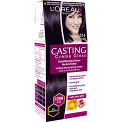 LOreal Paris Casting Creme Gloss Hair Color Small Pack - 316 Burgundy