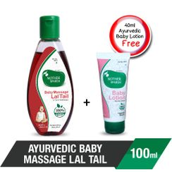 Mother Sparsh Ayurvedic Lal Tail Baby Massage + Free Baby Lotion