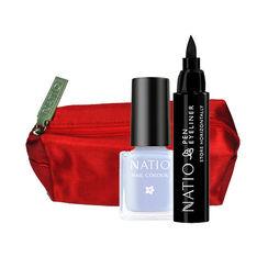 Natio Pen Eyeliner Black + Mini Nail Colour Combo Kit