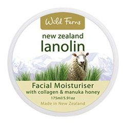 Wild Ferns Lanolin Facial Moisturiser With Collagen & Manuka Honey
