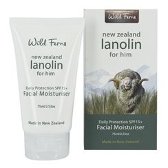 Wild Ferns Lanolin For Him Daily Protection SPF15+ Facial Moisturiser