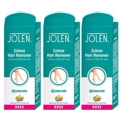 Jolen Hair Remover Cream - Rose Pack of 3 (20% Extra)