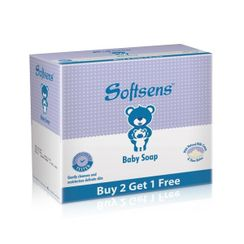 Softsens Baby Milk Soap (With Natural Milk Cream & Shea Butter) (Buy 2 Get 1 Free)