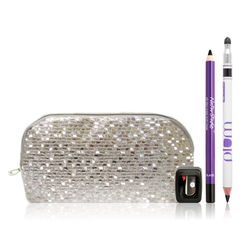 Plum Kajal Duo Combo With Free Flip Tip Sharpener And Silver Bling Pouch