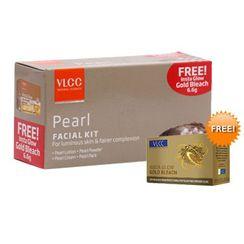 VLCC Pearl Single Facial Kit + Free Insta Glow Gold Bleach