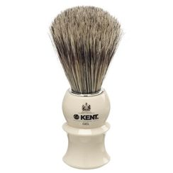 Kent White Socket-Blended Filaments Shaving Brush