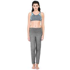 Zelocity AlphaTone Mid Waist Yoga Pants- Black Space Dye