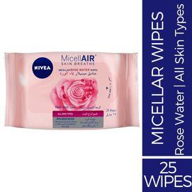 Nivea Skin Breathe Micellar Rose Water Wipes